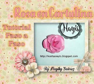 tutorial paso a paso rosa en cartulina cartulina decore haga usted mismo aplique cartulina scrapbook