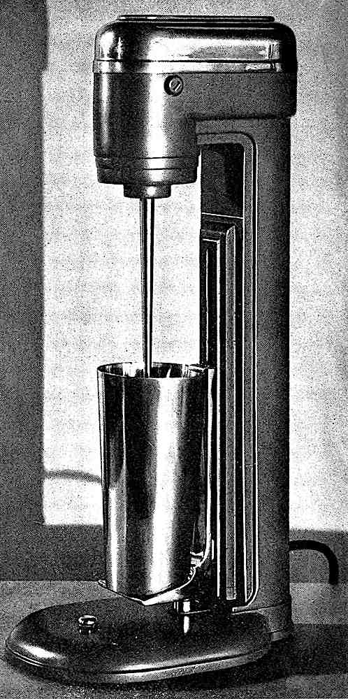 a 1930s electric drink mixer photograph