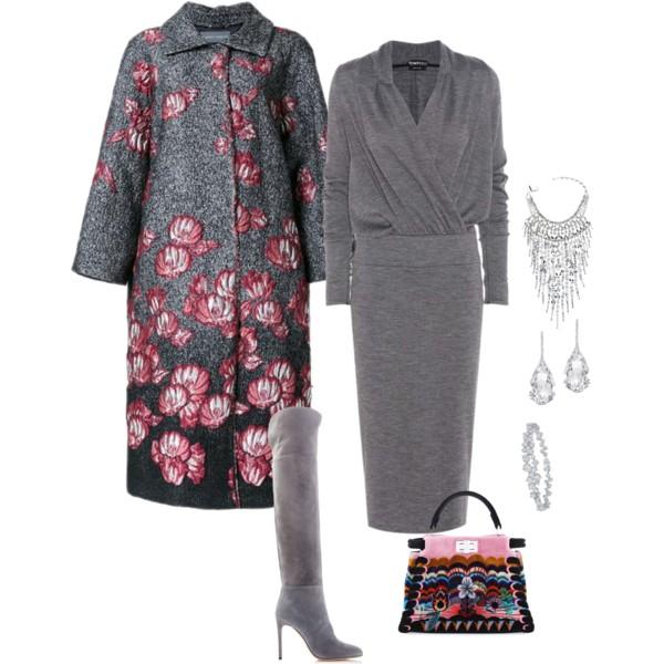 пальто с цветочным принтом с чем носить
