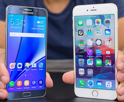 Samsung Galaxy Note 5 Vs iPhone 6s Pluse