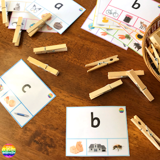 Beginning Sound Clip Cards | you clever monkey