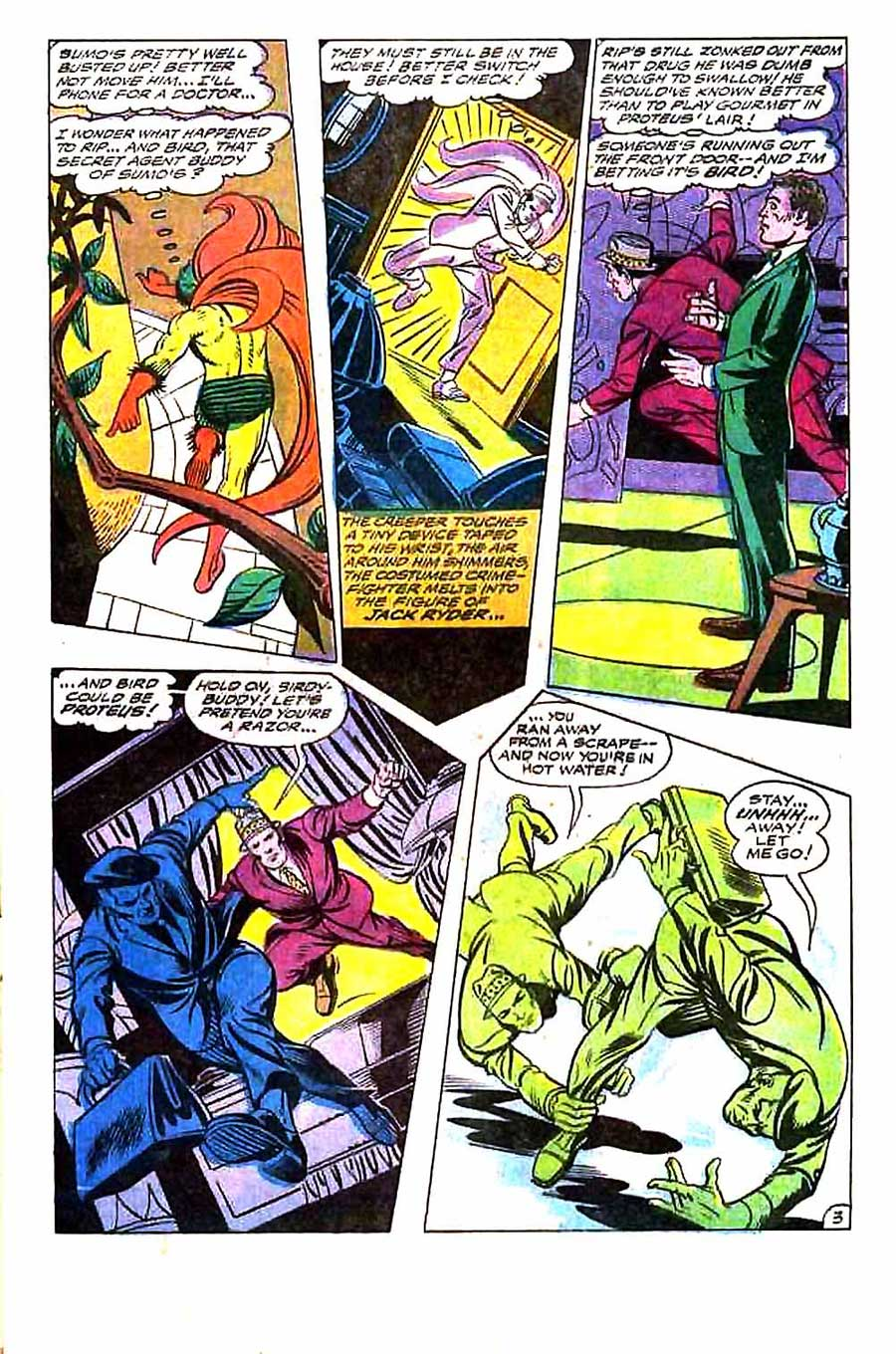 Beware the Creeper v1 #5 dc 1960s silver age comic book page art by Steve Ditko