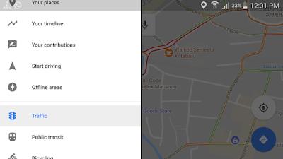 lalu lintas traffic google maps