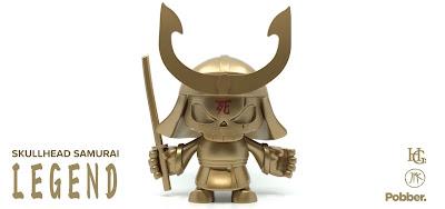 Skullhead Samurai Legend Edition Vinyl Figure by Huck Gee x Jon Paul Kaiser x Pobber