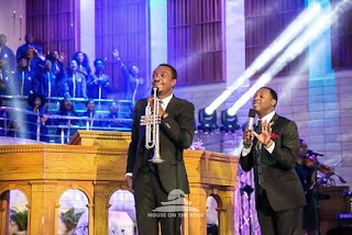Nathaniel bassey ministring in house on the rock church