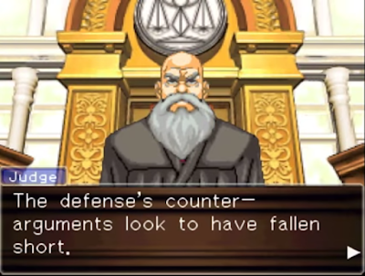 Phoenix Wright Ace Attorney Justice For All Judge Turnabout Big Top defense closing trial