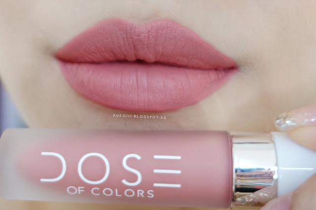 dose of colors liquid matte lipstick review and swatches xueqi. Black Bedroom Furniture Sets. Home Design Ideas