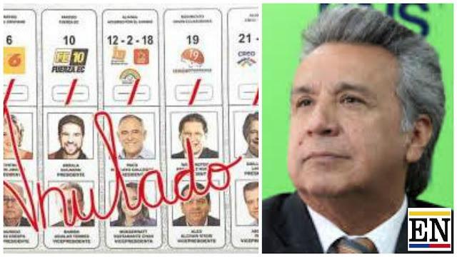 votos nulos blancos eleciones ecuador 2017