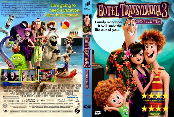 Hotel Transylvania 3: Summer Vacation 2018 Cover DVD
