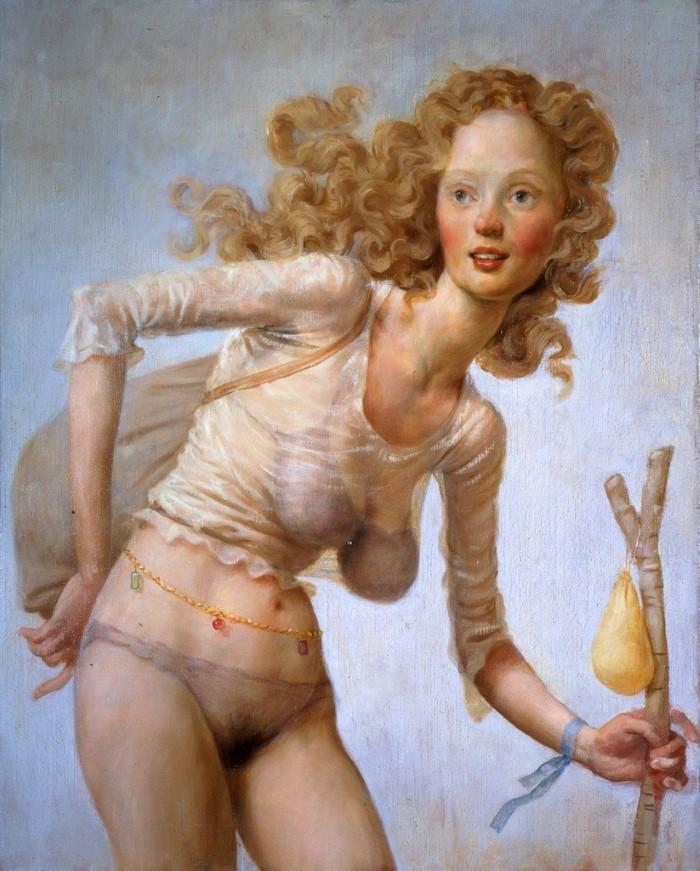 Гротескное изображение различных частей тела. John Currin