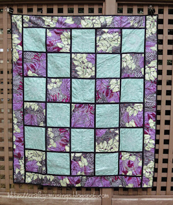 Reversible Embroidered Quilt, back view