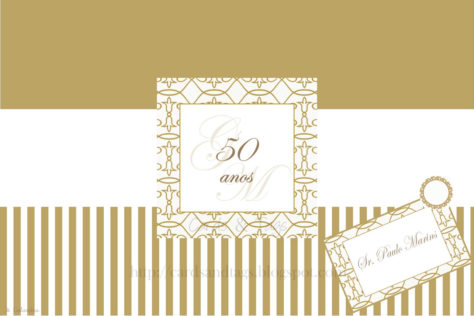 Quero Montar Meu Convite De 50 Anos: Convite Para Bodas De Ouro