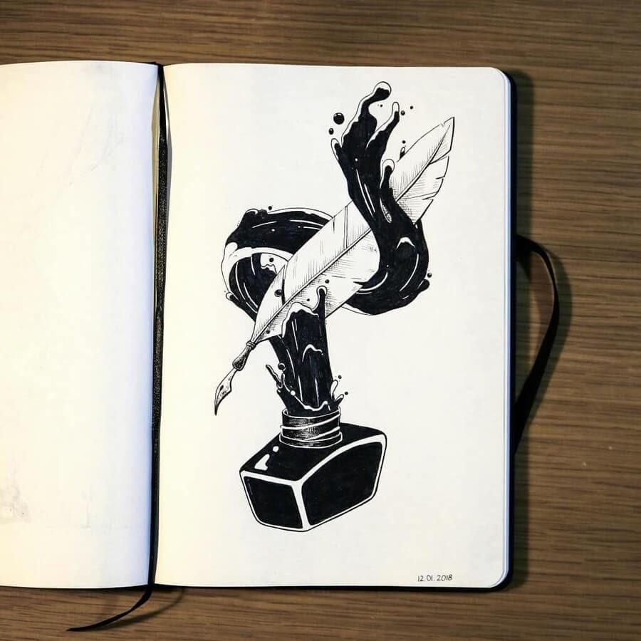 07-Written-word-Diana-Sofia-Animal-Drawings-www-designstack-co