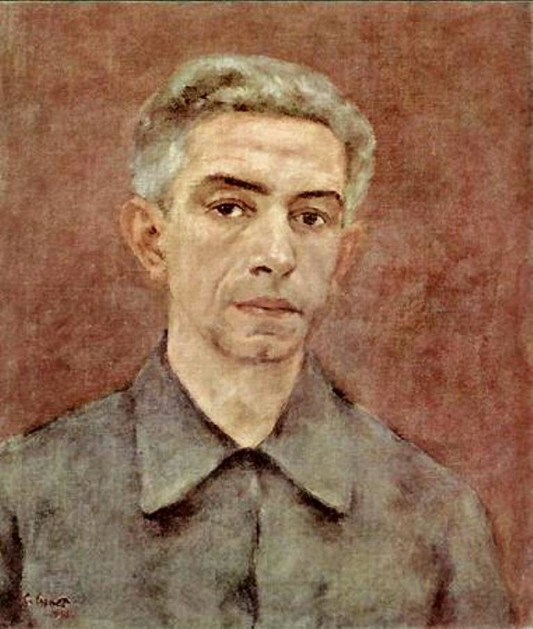 Ramón Gómez Cornet, Self Portrait, Portraits of Painters, Fine arts, Painter Ramón Gómez Cornet