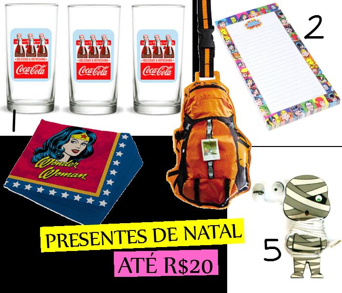 presentes de natal, presentes até R$20, gorila clube, presentes de natal baratos,presentes baratos, presentes legais
