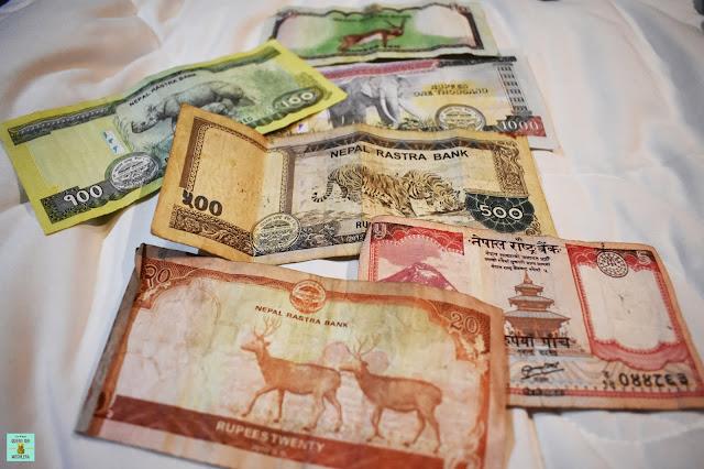 Cambio de dinero en Nepal