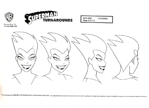 cartoon concept design  superman model sheets