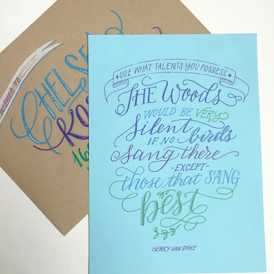 Handlettered quote-mailing