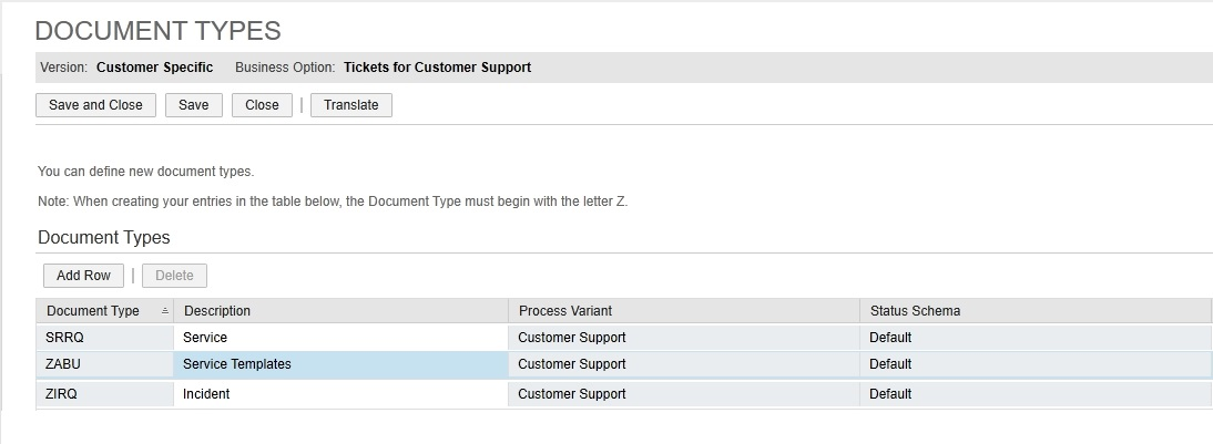 SAP Customer Engagement: Service Request Templates Solution for C4C
