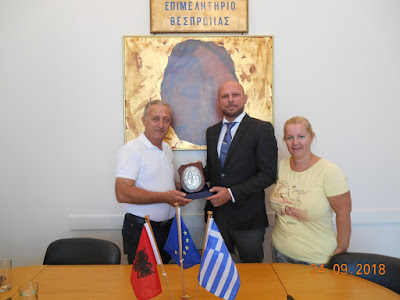 Συνάντηση Προέδρου του Επιμελητηρίου Θεσπρωτίας με τον Γενικό Πρόξενο Ιωαννίνων της Αλβανικής Δημοκρατίας