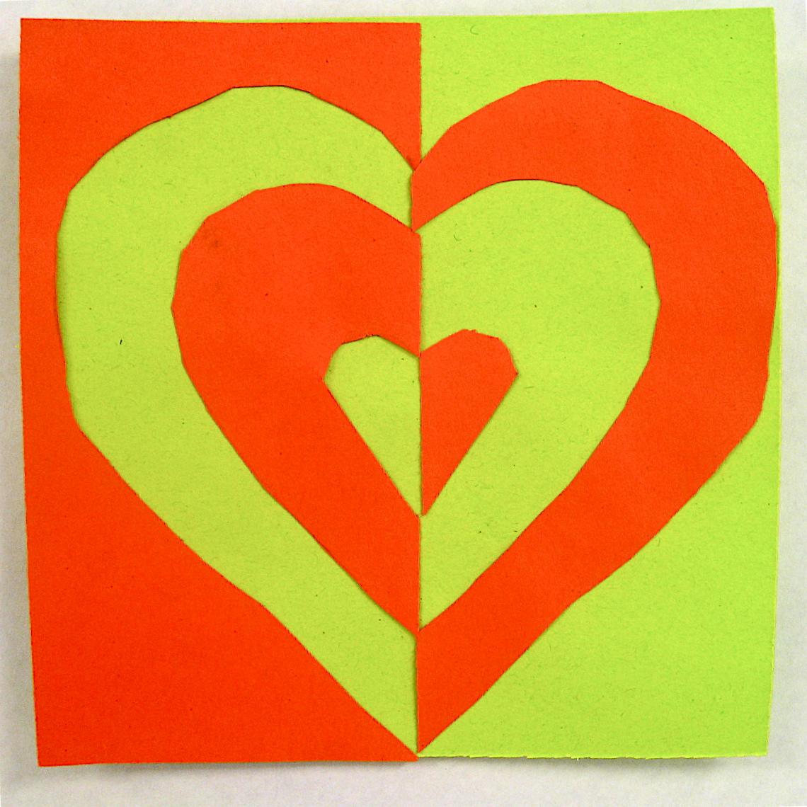 Let S Be Art Smart 4th Grade Symmetrical Hearts