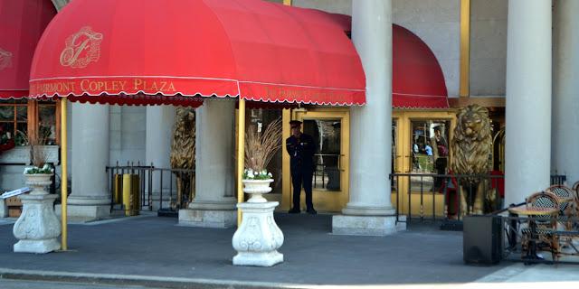 Former, Hotel Kensington, lions, Fairmont Copley Plaza, Copley Square, Boston, Massachusetts