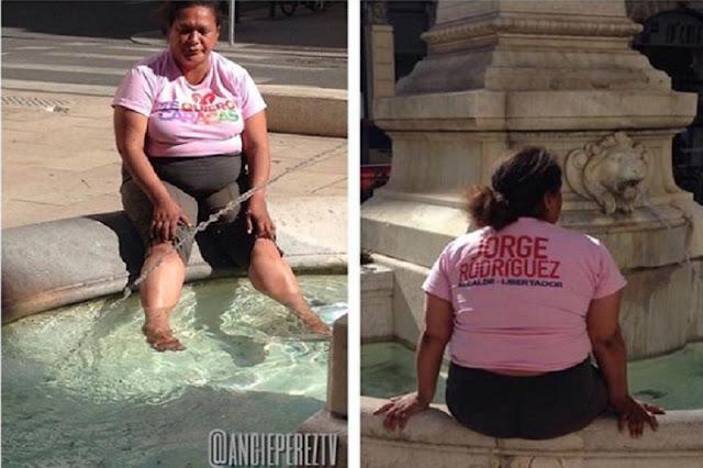 Chaburra llega a Francia, para lavarse los pies en una fuente