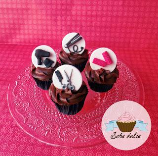 Cupcakes para una peluquera