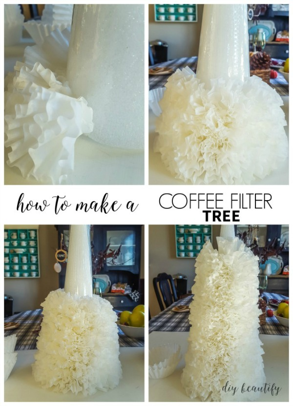how to make a coffee filter tree