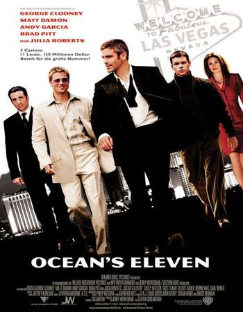 Poster Of Ocean's Eleven 2001 Dual Audio 720p BRRip [Hindi - English] ESubs Free Download Watch Online downloadhub.net
