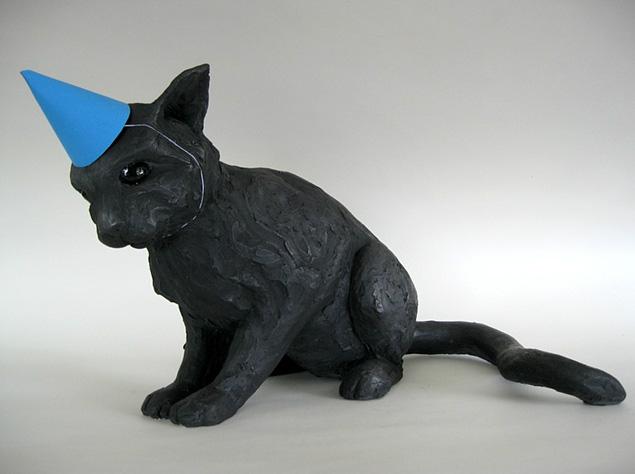 Darla Jackson, cat in party hat