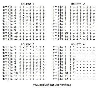 Quiniela reducida de 12 triples con columna base