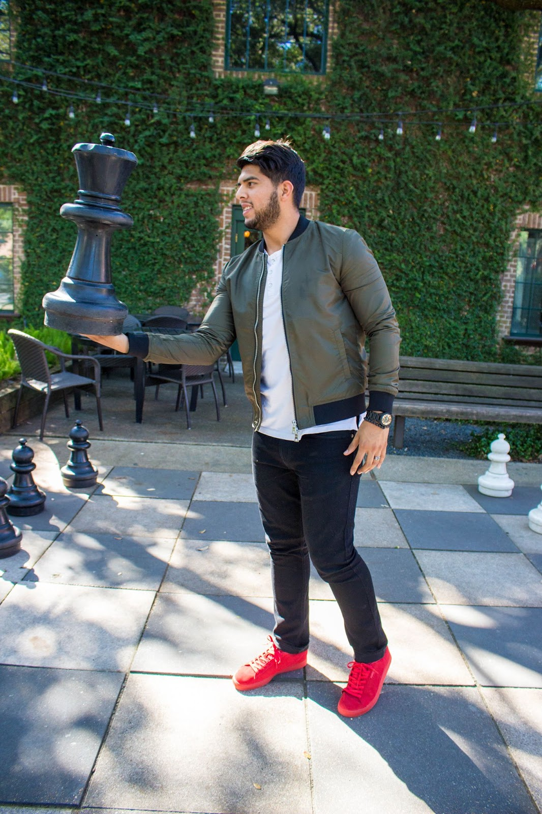 red sneakers for fall  daddy style diaries