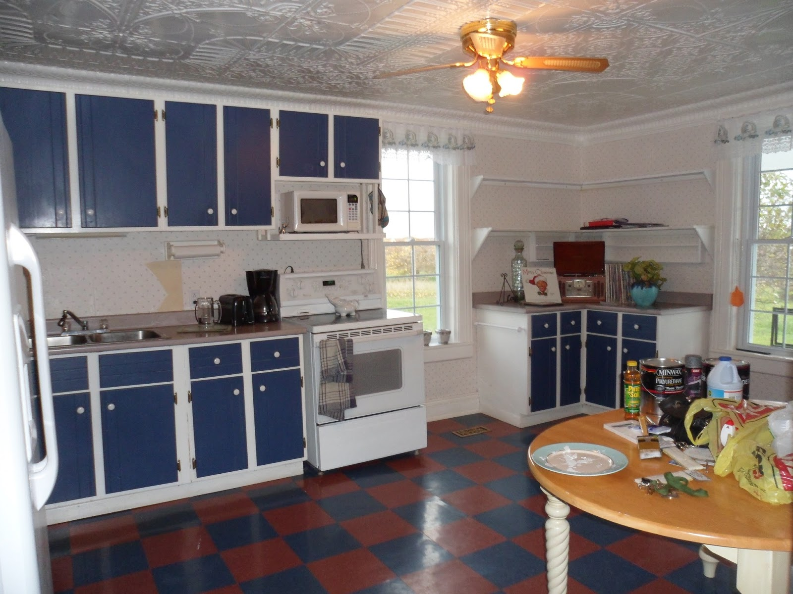 budget cabinet makeover white beadboard kitchen cabinets Budget Cabinet Makeover