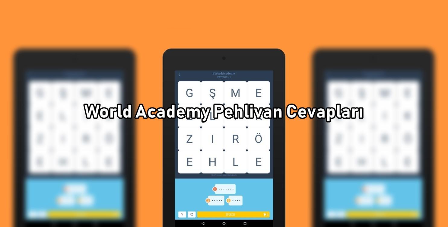 World Academy Pehlivan Cevaplari