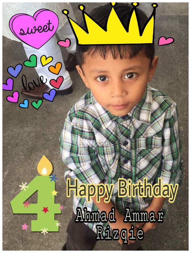 Abang Ammar turns 4! Happy birthday!