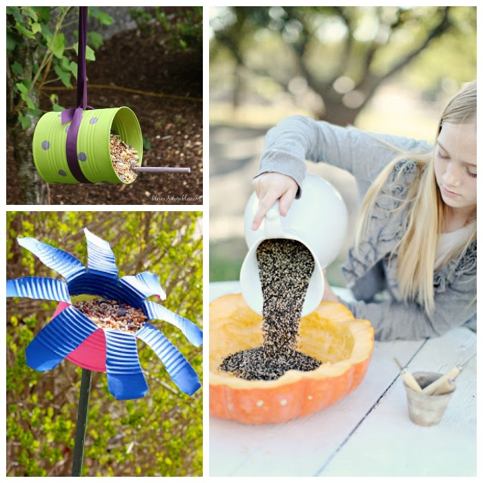 18 TOTALLY AWESOME bird feeder crafts for kids- The Lego bird feeder is SO COOL!