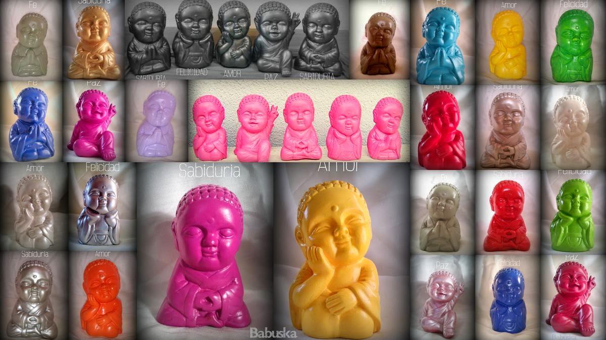 Budas bebé. Pintados y laqueados a mano (B224) Babuska
