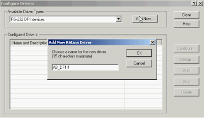 Pop Up Configure Drivers Rs Linx
