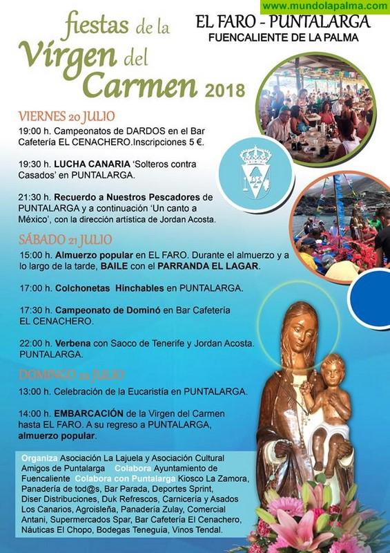 Fiesta de Nuestra Señora Virgen del Carmen en El Faro y en Puntalarga en Fuencaliente 2018