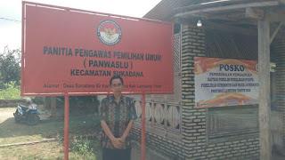 Panwaslu Sukadana Soroti Amburadulnya Daftar Pemilih Tetap (DPT) Pilgub Lampung 2018