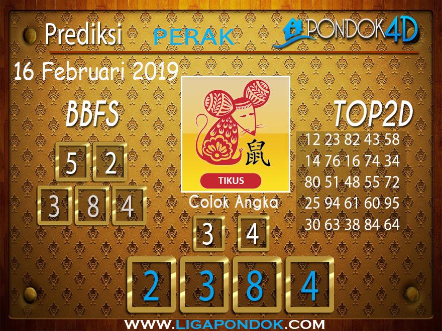 Prediksi Togel PERAK PONDOK4D 16 FEBRUARI 2019