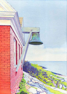 Pemaquid Point Bell House - Watercolor By Paul Sherman
