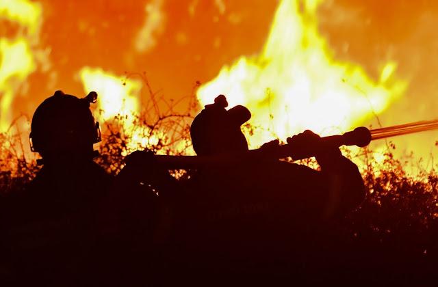 Ενισχύσεις και από την Αργολίδα για πυρκαγιά στις Κεχριές Κορινθίας