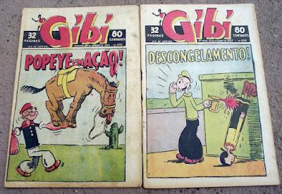 Gibi Trissemanal com Popeye na capa