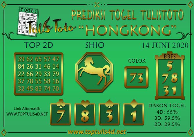 Prediksi Togel HONGKONG TULISTOTO 14 JUNI 2020