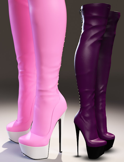 Olivia Morphing High Boots for Genesis 3 Female