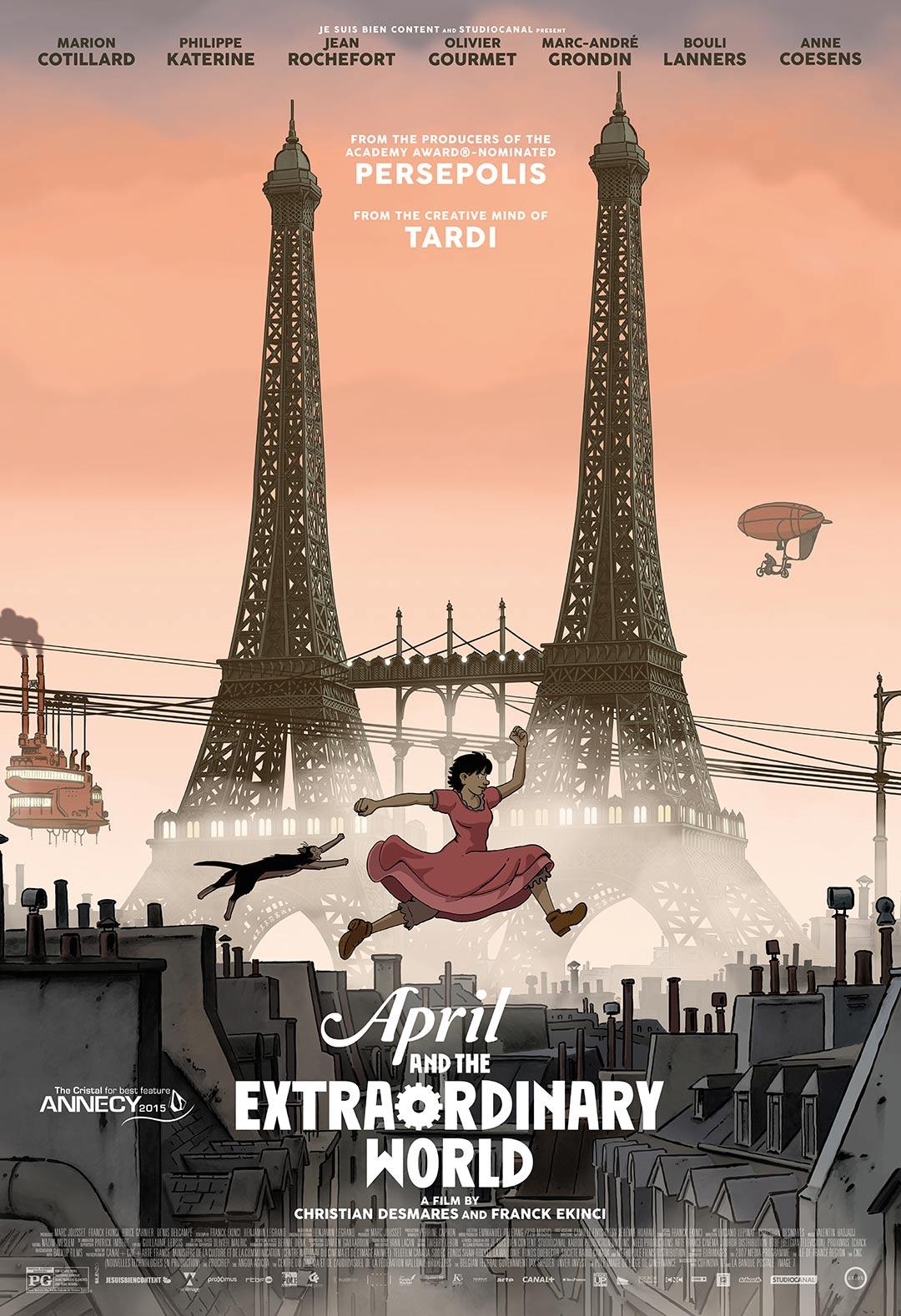 Abril e o Mundo Extraordinário – HD 720p