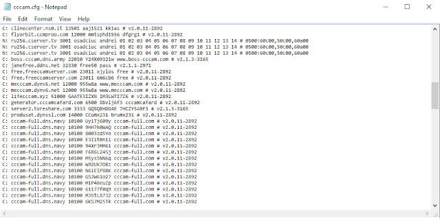 تحميل ملف وسيرفر cccam.cfg وطريقة ادخالة الي الرسيفر عن طريق الفلاشة محدث بأستمرار