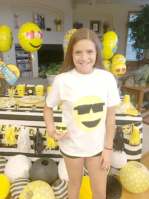Emoji Themed Birthday Party DIY Shirt via Pretty My Party
